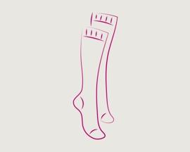 Pictograma Ciorapi compresivi pentru a preveni tromboza
